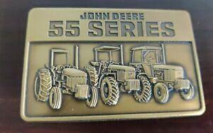 1987 John Deere 55 Series Brass Belt Buckle Take the Advantage