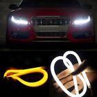 2x 60cm Switchback Headlight LED Turn Signal Daytime Light For Audi-Style Tube