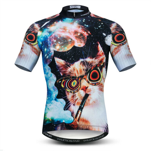 Men Cycling Jersey 3D Animals Short Sleeve Bicycle Clothing Team Bike Shirt Tops