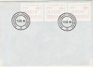 republic of south africa 1988 atm stamps cover ref 19194