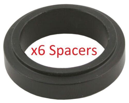 6 Black 17mm x 20mm Alloy Wheel Spacers Prokart Cadet  UK KART STORE