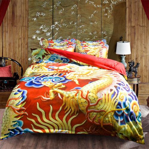 3D Dragon Pattern 43 Bed Pillowcases Quilt Duvet Cover Set Single Queen King AU