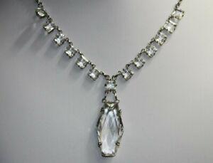 Art Deco paste Earrings silver silverplated
