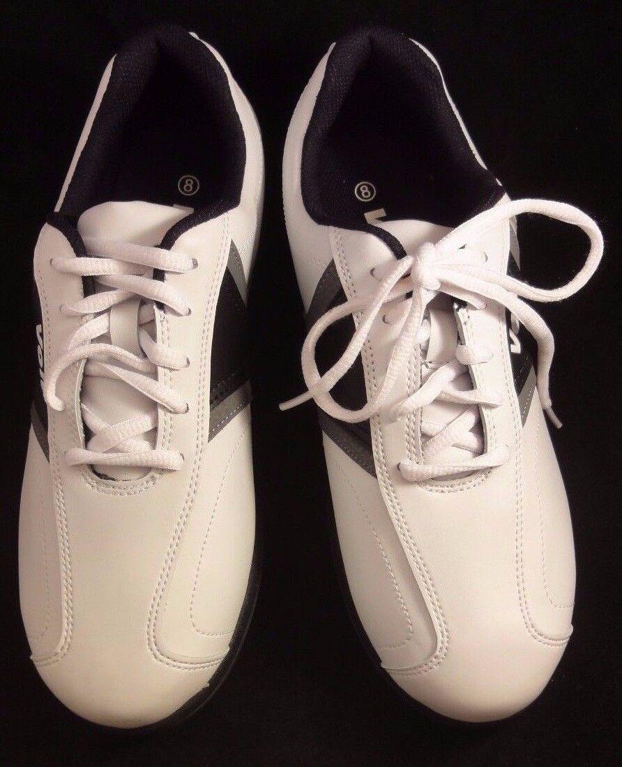 Volt Men's Golf Footwear Shoes F81005AV White/Black Grey Size 8 Medium