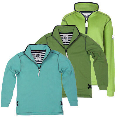 UnermüDlich Lazy Jacks Supersoft Quarter Zip Plain Sweatshirts