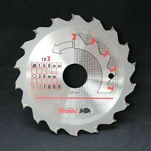 Black-amp-Decker-150mm-x-30mm-18T-Lama-Per-Sega-Circolare-TCT-Con-Denti-Curvi