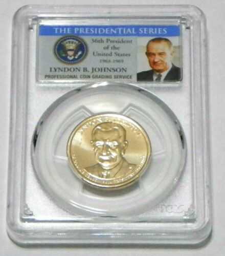 Johnson Presidential Dollar PCGS MS66 Position A 2015-D Lyndon B