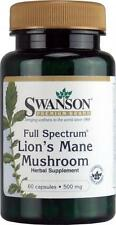 LIONS MANE MUSHROOM - 500 mg x 60 Capsules - LION'S MANE Hericium Erinaceus