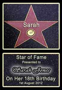 HOLLYWOOD-STAR-WALK-OF-FAME-PERSONALISED-A4-BIRTHDAY-GIFT-13TH-16TH-18TH-21ST-1
