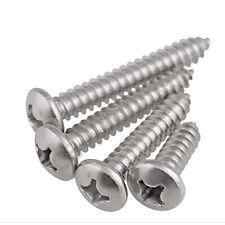50 Piece Miniature Sheet Metal Screws DIN 7981 Pan Head Stainless Steel A2 2,0X16