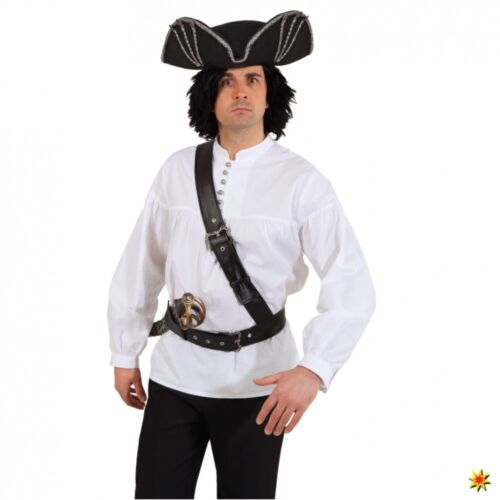 Seeräuber Gürtel mit Schultergurt schwarz Schultergürtel Piraten Kostüm Zubehör