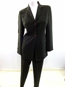 471cc382d7c JOSEPHINE CHAUS WOMENS BROWN POLYESTER PANT SUIT SIZE 6P SUPER CUTE ...