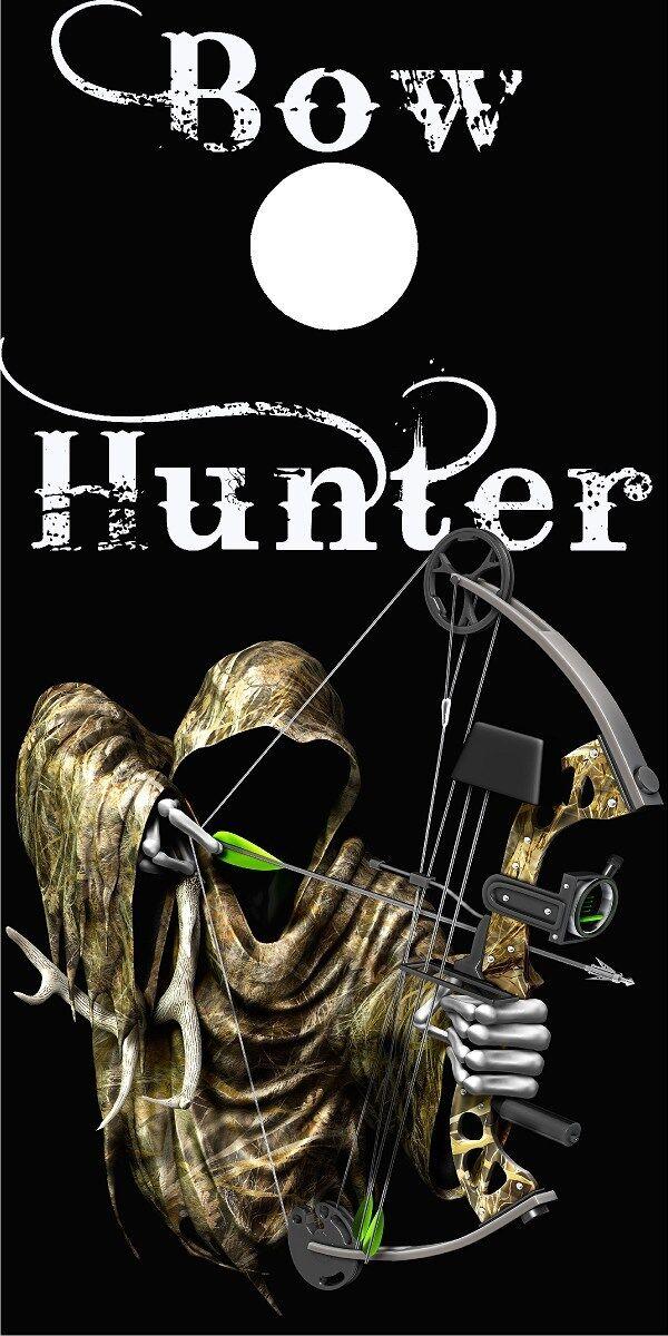 Grim reaper bow hunter Cornhole game decal wrap