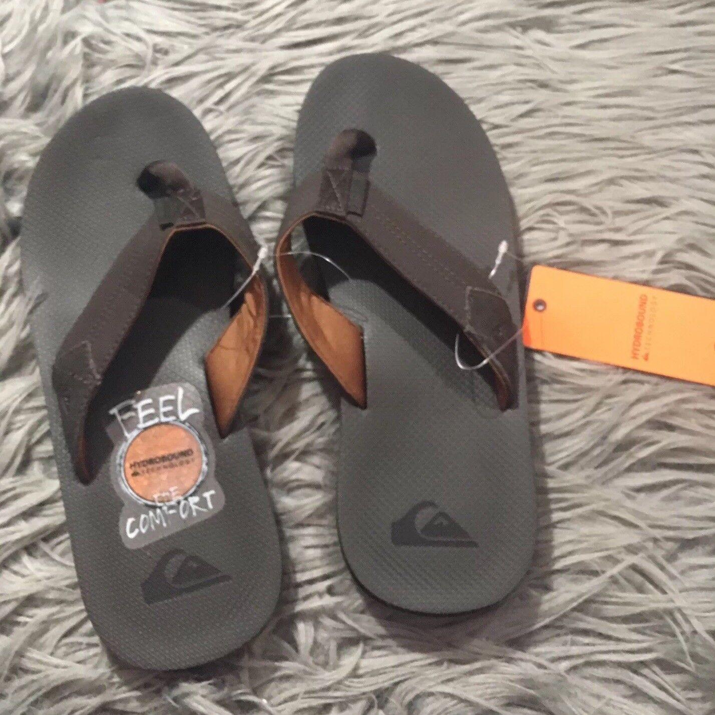 Quicksilver Coastal Oasis II 2 Sandals Flip Flops Sz 8 Brown NWT