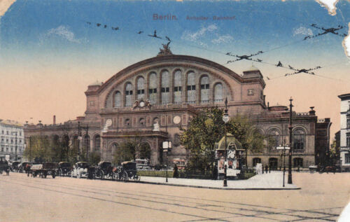 Postcard Approx 9x14cm Berlin HitchHiking Railway Station to 1916 G2271
