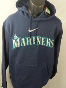 Homme Brodé Xl Nike M S Taille Seattle Neuf Adulte Bleu Mariners wxqvS76t