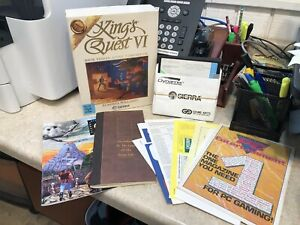 "King's Quest VI-Vintage PC Game-5.25"" Disks-Big Box + Game Manual + Inserts"