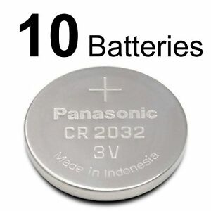 panasonic cr 2032 3v  10 PANASONIC CR2032 CR 2032 3v Lithium Battery - Expiration date ...