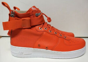 ce8c64c946cd50 Nike SF AF1 Mid Size 10.5 Team Orange White Special Air Force Shoe ...