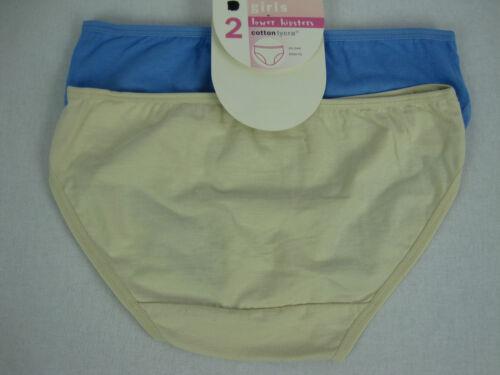 Target Girls 2 Pack Lower Hipster Bikini Briefs Underwear size 12 14 Blue Cream