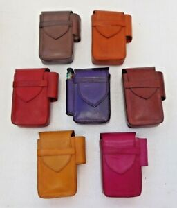 Moroccan-Leather-Cigarette-Box-With-Lighter-Slot-Assorted-Colours