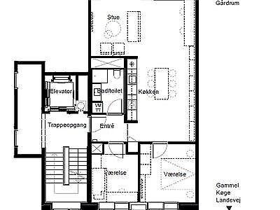 2500 vær. 3 lejlighed, m2 95, Gammel Køge Landevej