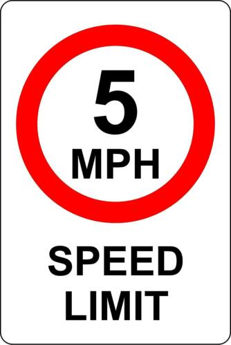 5 MPH Speed Limit Safety Sign