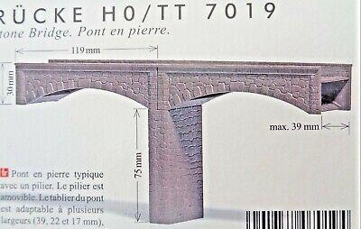 Busch 7019 H0/tt/n, Ponte Di Pietra, Kit, Nuovo-mostra Il Titolo Originale