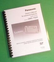 Laser Printed Panasonic Dmc-ts20 Advanced Camera 152 Page Owners Manual Guide
