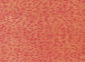 Spur N 250 x 125 x 0,5 mm ++ NEU in OVP Faller 222568 Mauerplatte Backstein
