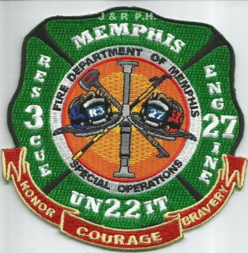 """4.5/"""" x 4.5/"""" size Operations Memphis  Engine-27 // Rescue-3 // Sp fire patch TN"""