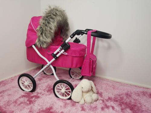 Poupées Landau 90 cm Luxe Fausse Fourrure Capuche Bordure bébé fille 130 couleurs Jouer Doll furs