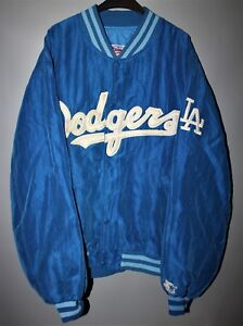 85aa65b53 Image is loading VINTAGE-LOS-ANGELES-DODGERS -DIAMOND-COLLECTION-SATIN-STARTER-