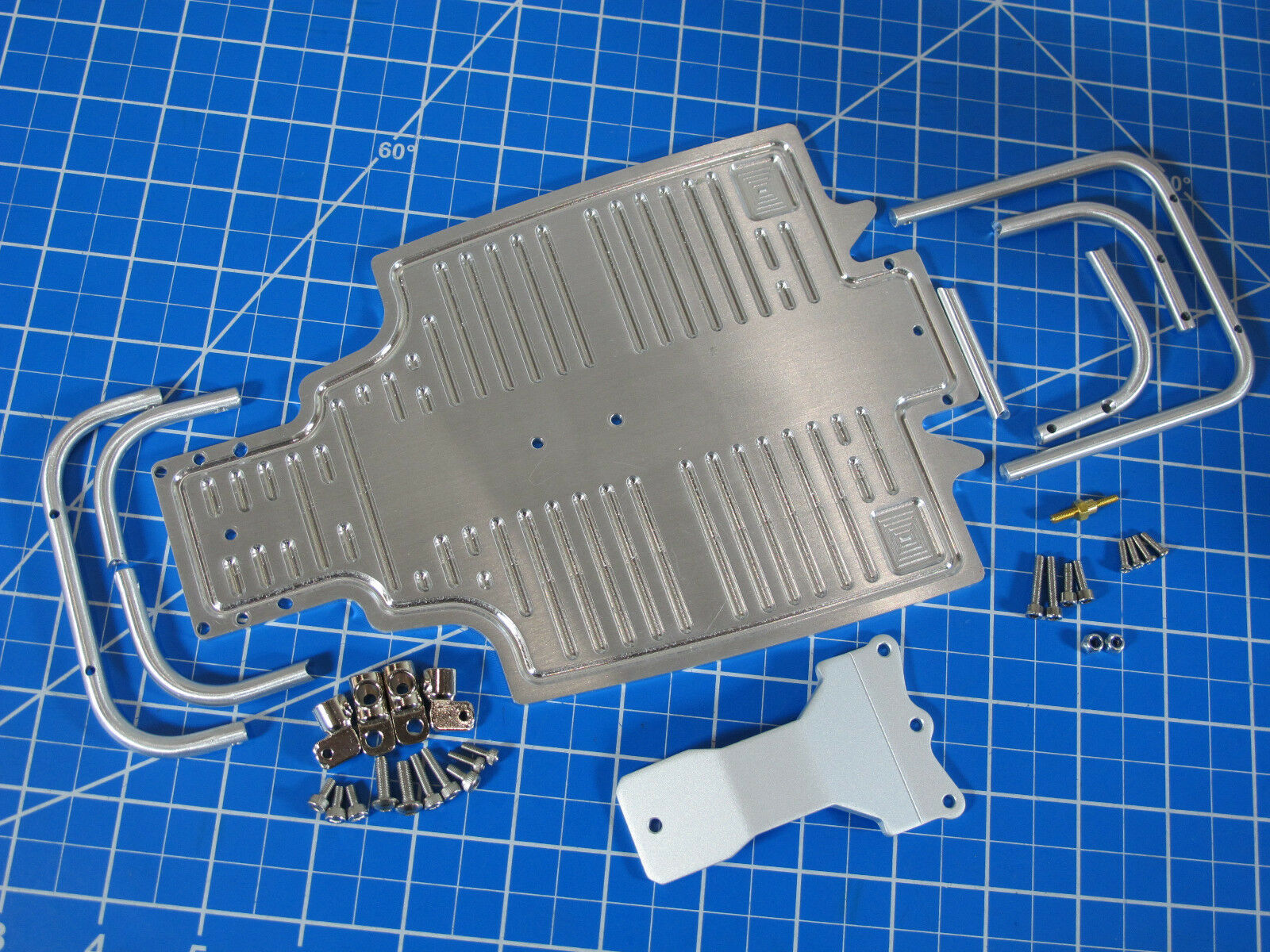 Aluminum Front & Rear Bumper Guard Lower plate Chassis Tamiya 1/10 Sand Scorcher