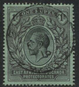 East-Africa-amp-Uganda-KGV-1912-1-rupee-black-on-emerald-used