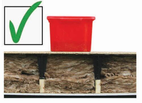 raised storage boarding leg stilt loftleg Loftlegs loft insulation spacer