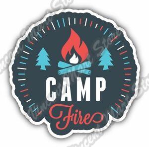 Camp Fire Camping Adventure National Park Car Bumper Vinyl