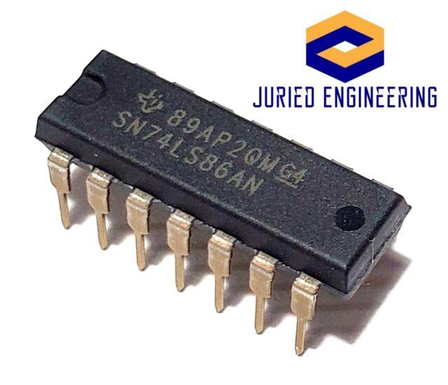 Exclusive OR gate DIP14 = SN74HCT86N U74HCT86DC 5pcs CD74HCT86E Quad 2-input