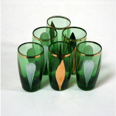 6 verres à shots ou liqueur anciens vintage 1950