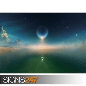 Eclipse Galaxy imagen cartel impresión arte A0 A1 A2 A3 A4-Segunda Mitad De Precio! 3002