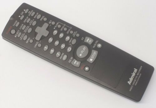 Original Admiral RRMCG1241AJSA VCR Remote Control for Video Cassette Recorder