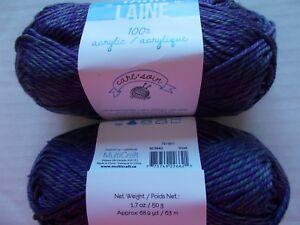 Moss Green 115 yds ea Needle Crafters acrylic yarn lot of 2