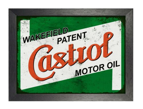 Castrol  Motor Oil Greases Poster Old Logo British Brand BP Station Wakefield