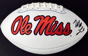 Matt Luke Signed Ole Miss Rebels Logo Football W Coa Go Rebs Ebay