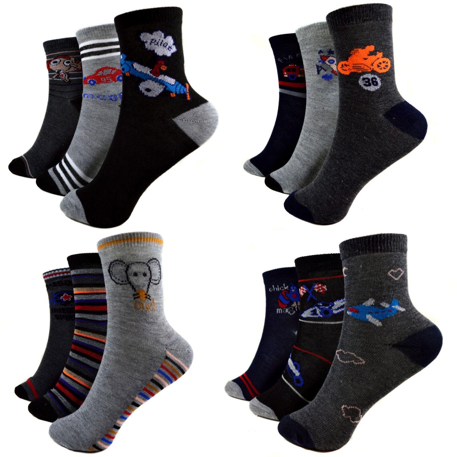 c87d7f6d35 12 Paar Kids Jungen Socken Kinder Strümpfe 90% Baumwolle Bunt Gr. 27 ...