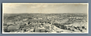 Palestine-Jerusalem-Panoramic-View-Vintage-silver-print-Tirage-argentique