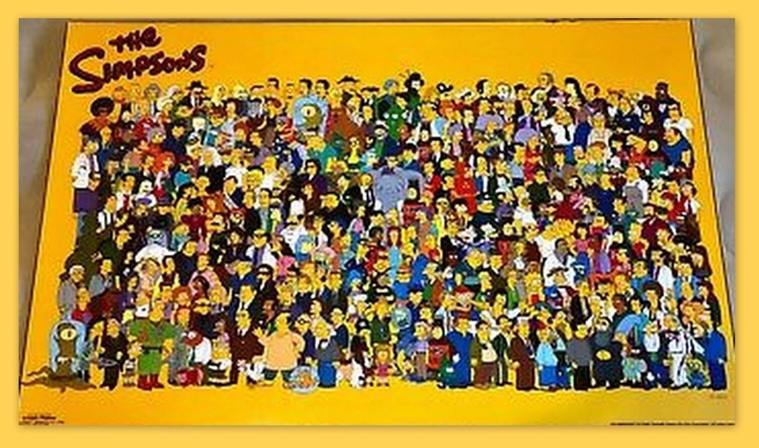 The Simpsons Classic 521 Character SCORPIO POSTER Rare MISP SEALED 2000 VINTAGE
