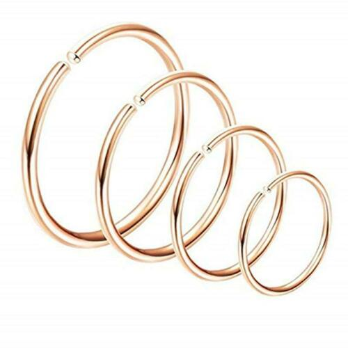 Fake Nose Ring Septum Ring Hoop Cartilage Tragus Helix Small Piercing Daith W