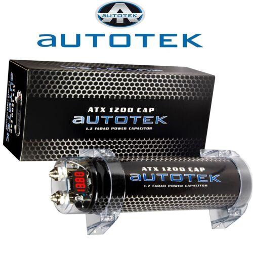 Autotek condensador powercap 1.2 Farad voltaje digital visualización
