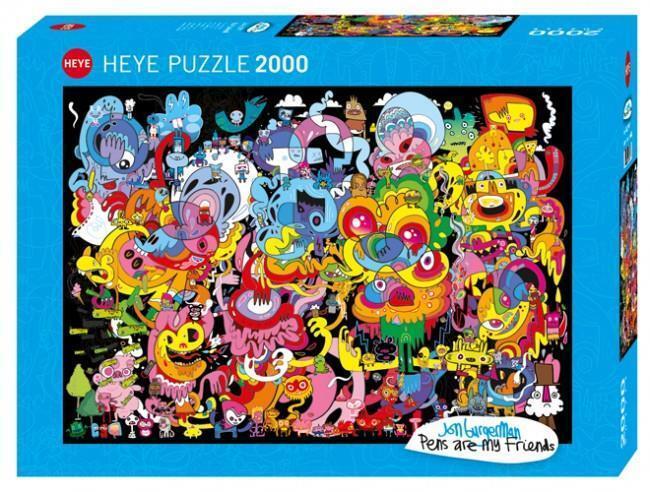 HEYE JIGSAW PUZZLE BURGEMAN  NEW PSYCHEDOODLIC 2000 PCS COMICS